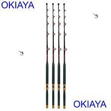 """Okiaya Composit 80-130Lb """"The Bosshoss"""" Saltwater Big Game Roller Rod Set of 4"""