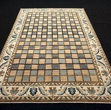Orient Teppich Modern 291 x 202 cm Gabbeh Feldermuster Braun Beige Blau Carpet