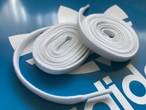 Adidas Original White Flat Shoe Laces ( Genuine ) Limited Quantity ...