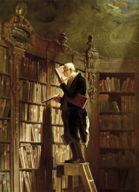 Der Bücherwurm Selbstklebende Poster-Tapete #50805 Carl Spitzweg 250x180cm
