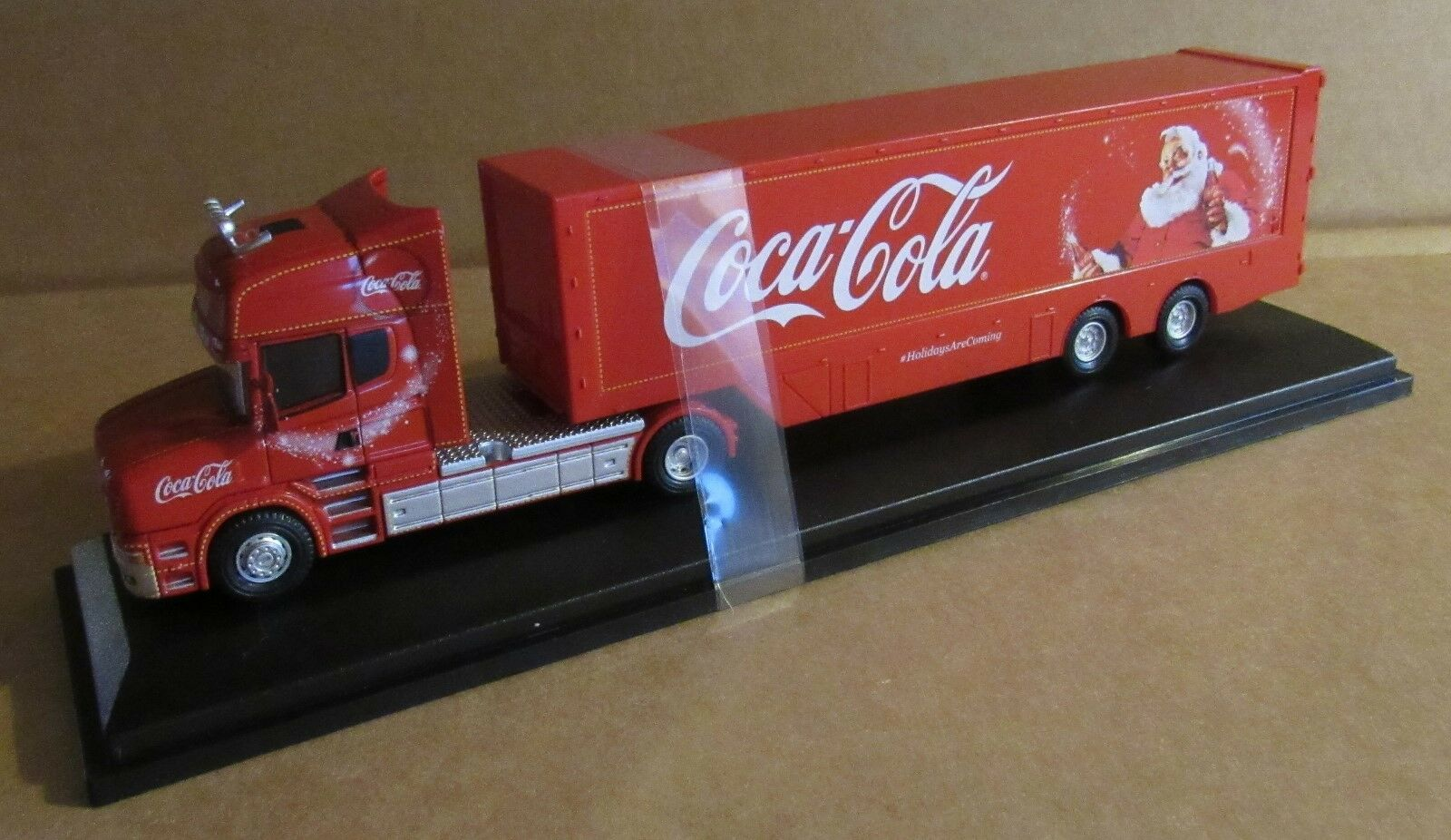 OXFORD DIECAST SCANIA T CAB TWIN AXLE BOX TRAILER 1 76 SCALE COCA COLA CHRISTMAS