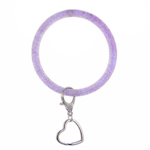 O Silica Gel Wear Bracelet Keychain Exaggerated Circle Wristlet Bangle Jewelry