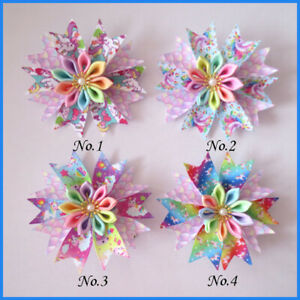 "50 BLESSING Girl Popular 3.5/"" Fairy Hair Bow Clip L.O.L Doll Rainbow Baby"