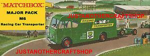 Matchbox-M-6-Racing-Car-Transporter-Poster-Leaflet-Shop-Display-Sign-Advert