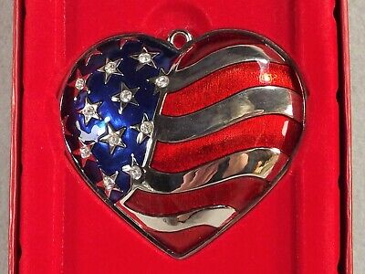 Lenox Heart Of America Ornament Silverplated 6199566 Christmas Holiday July 4th Ebay