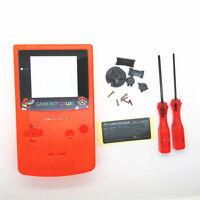 Gbc Nintendo Game Boy Color Replacement Housing Shell Screen Orange Mario Usa
