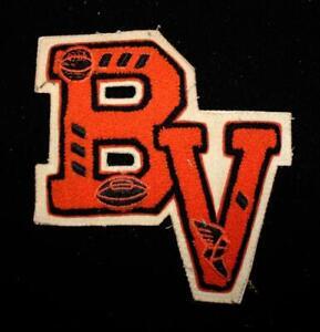 VINTAGE-1960-039-S-1970-039-S-SCHOOL-LETTERS-BLACK-AND-ORANGE-PATCH-6-034-X-6-1-2-034