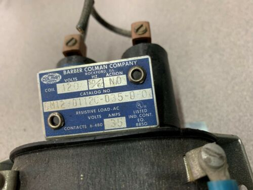 Details about  /USED COLMAN CONTACTOR CM12-0112C-035-0-0