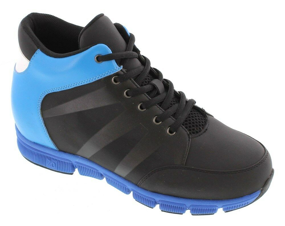 TOTO X32902 - 3.3 Inches Elevator Height Increase nero nero nero & blu Sporty scarpe da ginnastica 8431c2