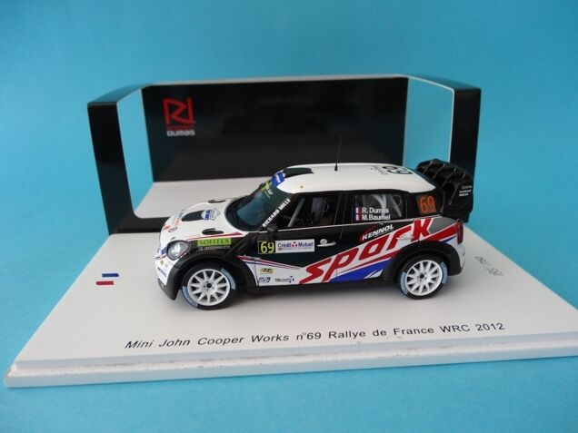 MINI JOHN COOPER WORKS WRC  69 - DUMAS - RALLY FRANCE 2012  1 43 NEW SPARK SF040