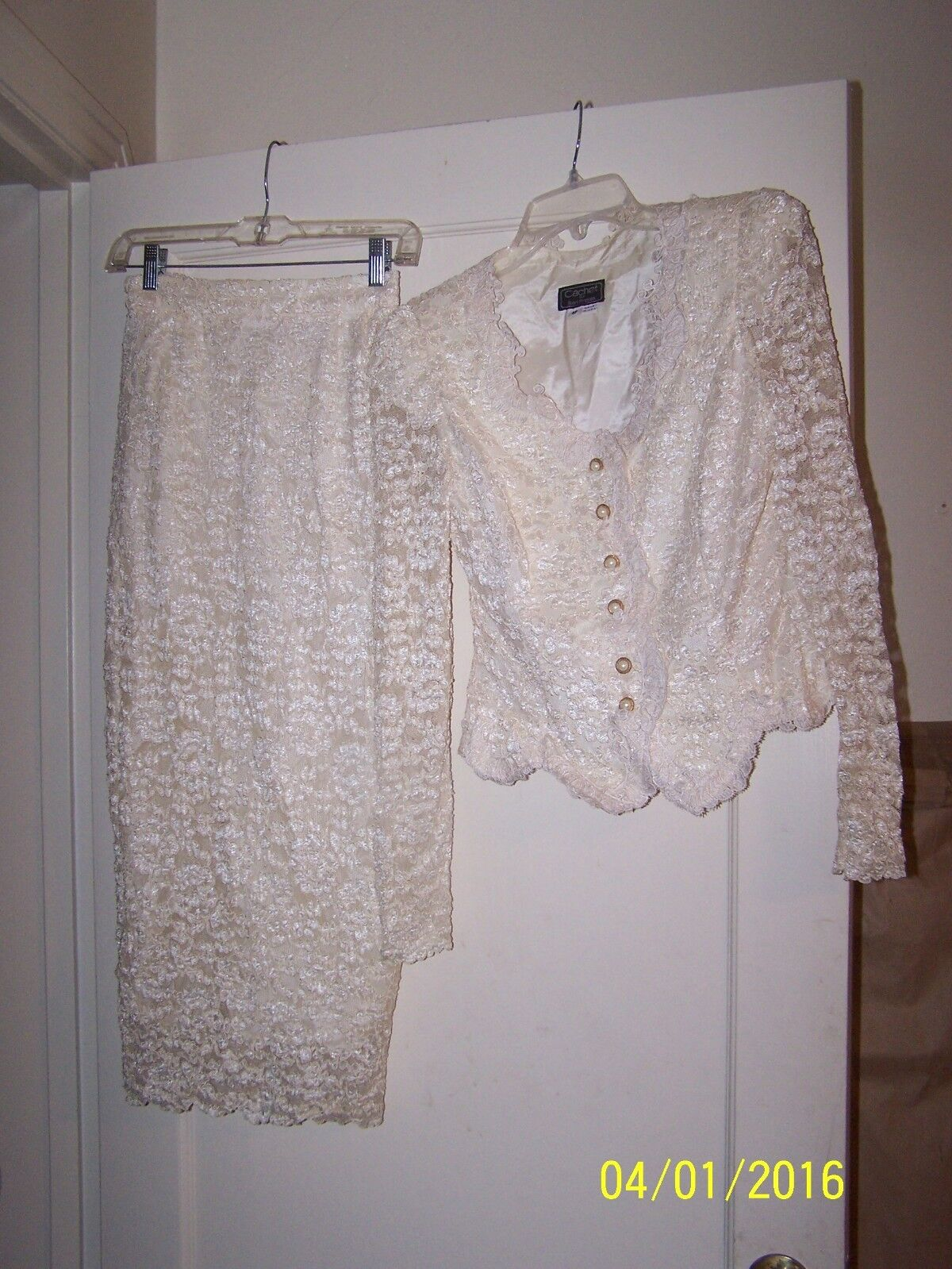 Vintage Cachet by Bari Predas Beautiful Outfit Size 4P Body fully lined Excellen
