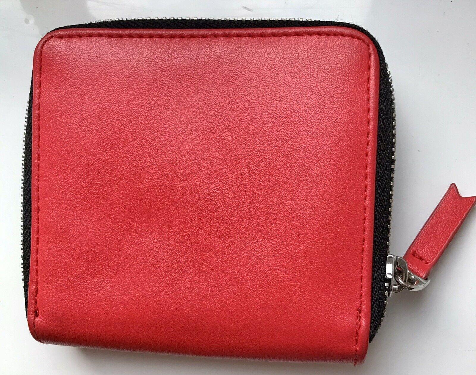 MONKI Red Faux Leather Purse Wallet