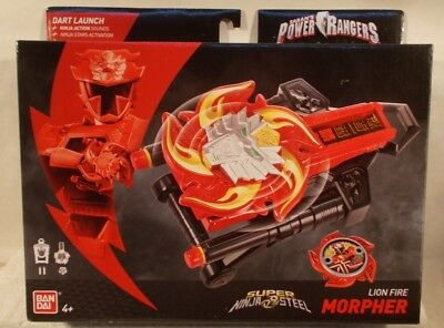 Power Rangers Super Ninja Steel Lion Fire Morpher With Action Sounds Fires Darts