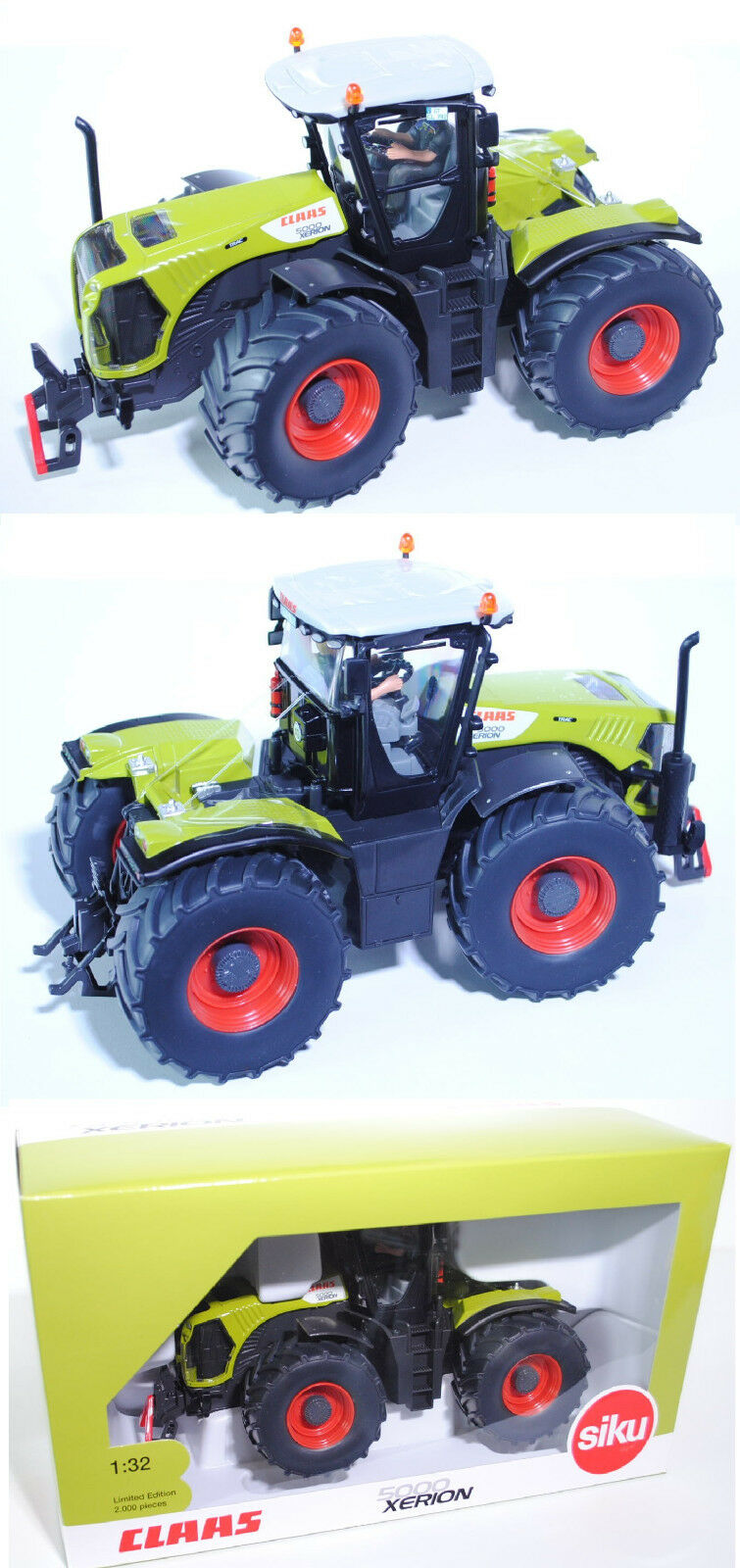 gran descuento Siku Farmer 3271 00406 00406 00406 Claas xerion 5000 Trac tractor 1 32 werbebox  ventas en línea de venta