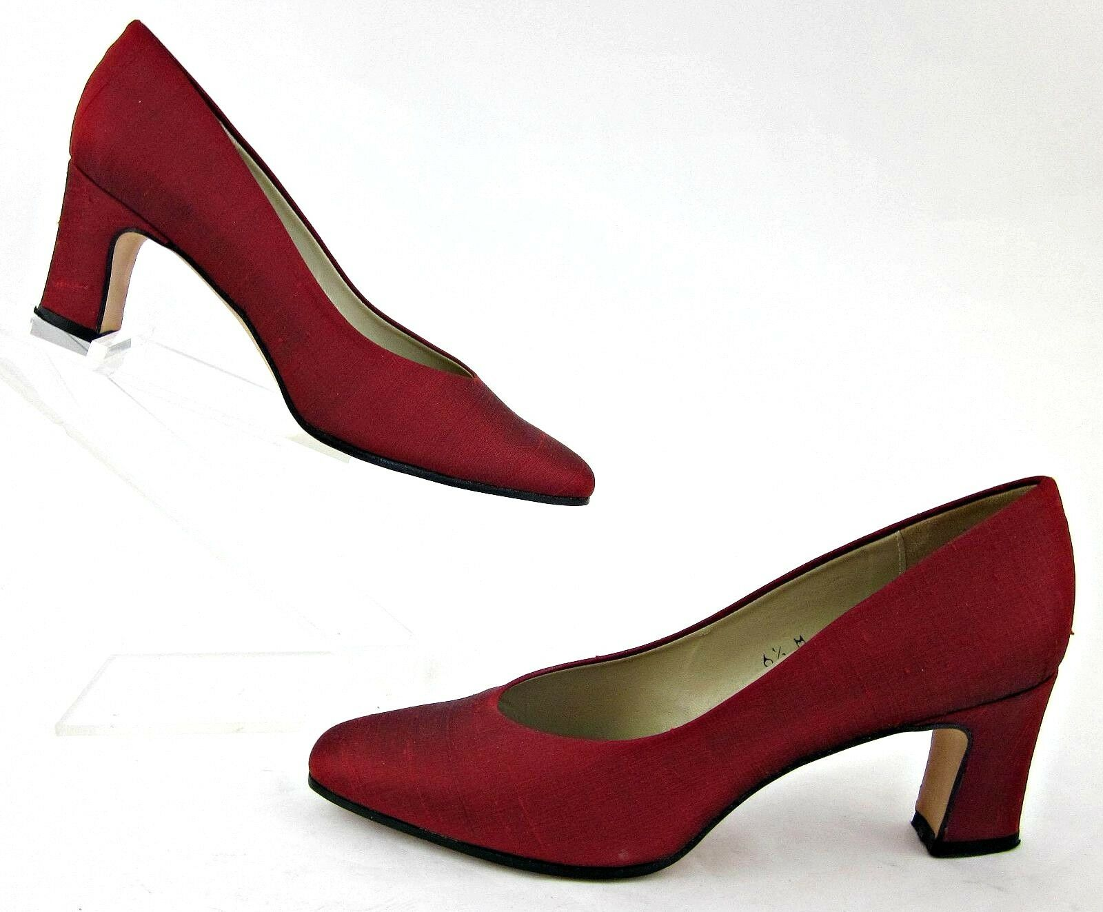 Etienne Aigner 'Taylor' Dress Pumps RED Fabric 6.5M Made In Spain