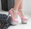 Hot-amp-Sexy-Women-039-s-Squins-Platform-High-Heels-Stiletto-Stripper-Dance-Shoes-16CM