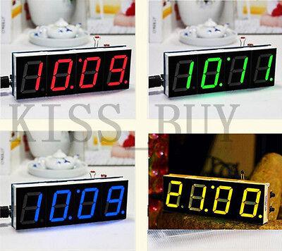 DIY kits Digital LED Electronic Microcontroller Clock Large Screen display time