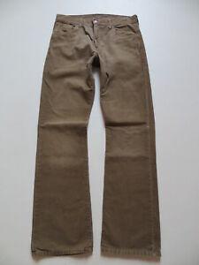 Levi's 507 Bootcut Cord Jeans Hose W 32 /L 34 braune Vintage Cordhose, wie NEU !