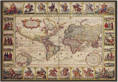 Decoupage-Bastelpapier-Softpapier-Vintage-Landkarte-Weltkarte-Map-12428