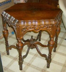 Antique Ornate Six Sided Parlor Lamp Table EBay - Six sided table
