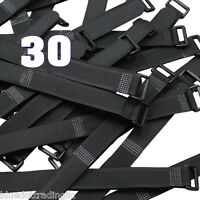 30 Pcs 8 Wire Straps Reusable Hook And & Loop Magic Cable Ties Fiber Fasteners