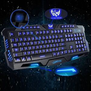 Teclado Multimedia USB Gamer LED 3 Colores con Iluminación de...