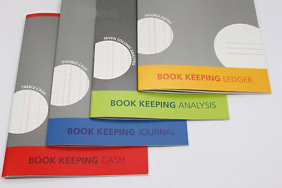 Yellow Book Keeping Pad 32 Page Accounts Book A4. Silvine Double Entry Ledger