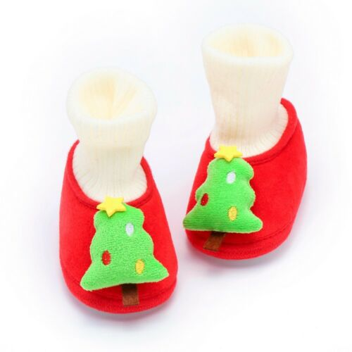 Newborn Toddler Baby Boy Girl Christmas Cartoon Warm Soft Sole Boot Casual Shoes