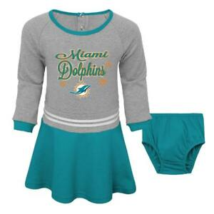 the best attitude e91c4 23472 Details about Miami Dolphins NFL Toddler Girls' Teal/Gray Dress & Diaper  Cover Size 3T NWT