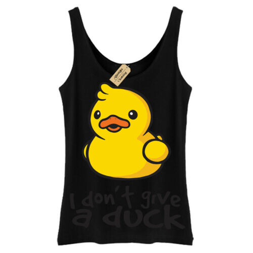 I don/'t give a duck T-Shirt rude Funny joke novelty Vest Womens