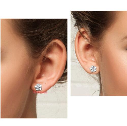 coppia orecchini da donna strass fiore bianco R42