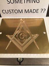 Freemasonry Mason Emblem Solid Brass Engraving Plate For New Hermes Font Tray
