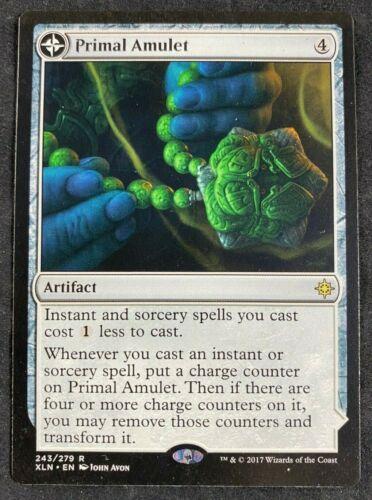 MTG Magic The Gathering Primal Amulet //// Primal Wellspring Ixalan HP