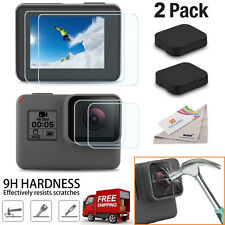 GoPro Hero 5 / 6 Ultra Clear Tempered Glass Screen and Lens Protector Cap Covers