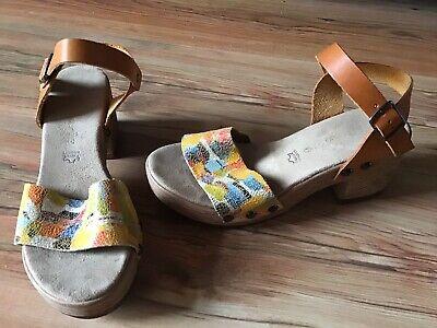 Tamaris Absatz Schuhe, Sandaletten, Sandalen Gr. 37 braun Plateau !!! | eBay