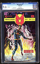 Miracleman #1 UK Edition CGC 9.6 WHITE PAGES NM / NM+ HARDEST MIRACLEMAN BOOK