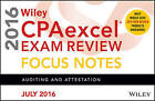 Wiley CPAexcel Exam Review July 2016 Focus Notes: Auditing and Attestation by Wiley (Paperback, 2016)