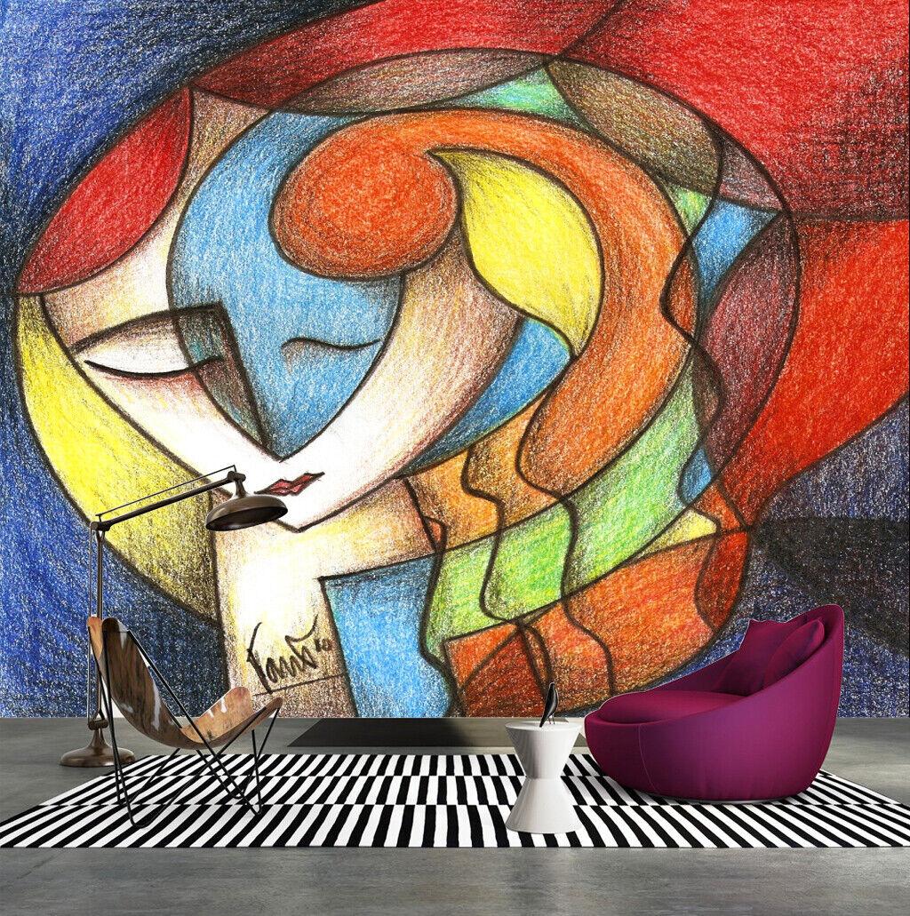 3D Mädchen Kunst M346 Tapete Wandbild Selbstklebend Abnehmbare Aufkleber Amy