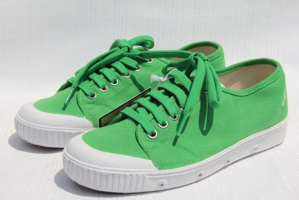 SPRING COURT Women's G2 Bright Green   White Canvas Sneakers shoes US 5   36