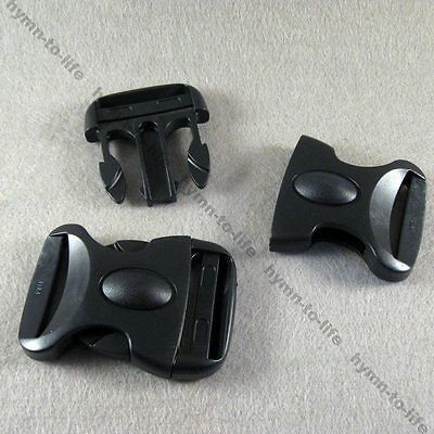"""2/10/25 pcs Black Plastic Oval Buckles Personality For 1-1/2"""" belt M186-38"""