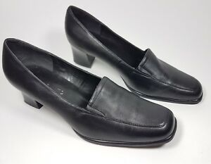 Mid Black 5 Uk Condition Shoes Heel Super Cushion Leather 7 Soft Clarks wOqIpRR