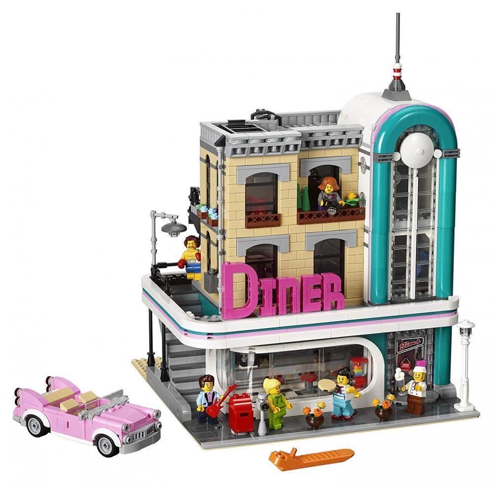 LEGO Creator Expert Downtown Diner 10260 Building Kit  2480 Piece