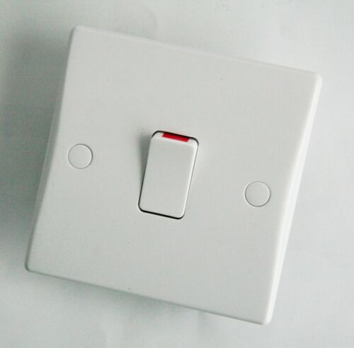 GET//Schneider GU2010 Ultimate White Moulded 20A Double Pole Switch