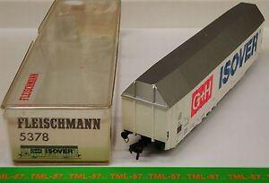 Wagon-FLEISCHMANN-HO-Couvert-Grande-Capacite-G-H-ISOVER-Ref-5378-TBE