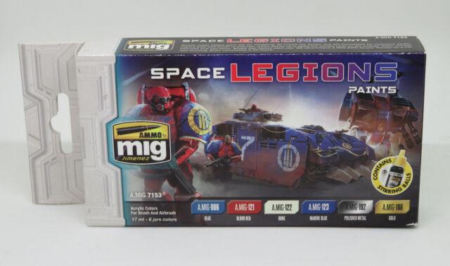 Ammo By Mig Space Legions Acrylic Paints Set 17ml-6 Jars A.MIG-7153
