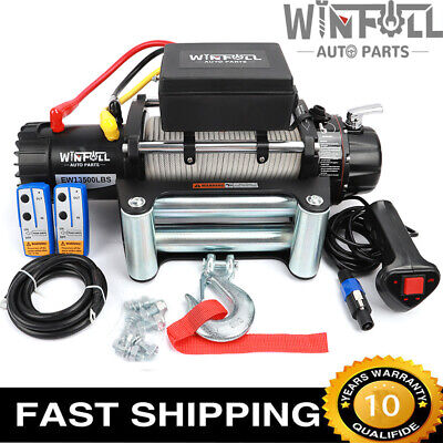 NEW ELECTRIC WINCH 12V 4x4 13500lb RECOVERY- OFF ROAD ...