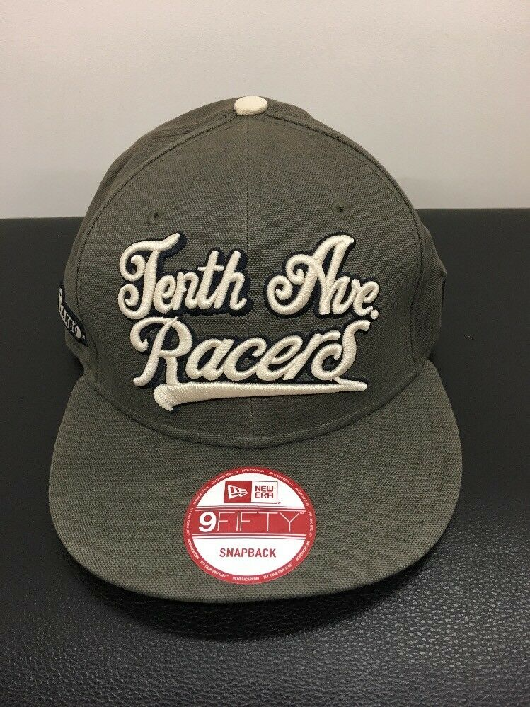 "Akoo X Racers"" New Era ""Tenth Ave Racers"" X Prototype Sample Snapback Hat 9fifty NWT Olive 7039ff"
