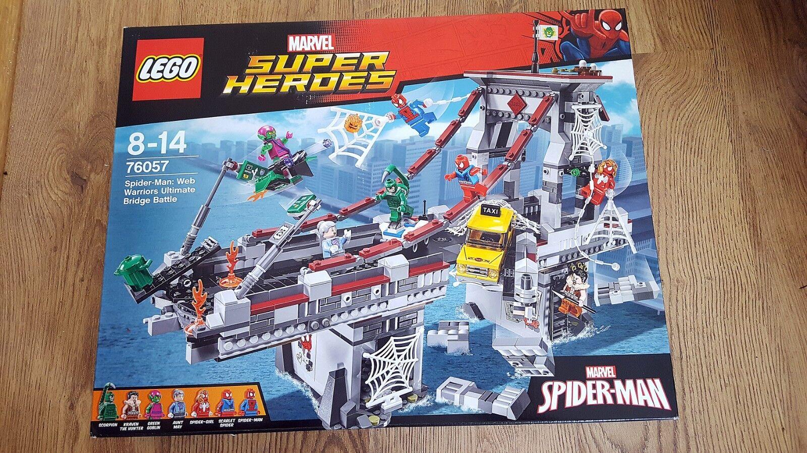 Lego Marvel 76057 Spider-Man  web guerreros batalla final puente nuevo, Sin Abrir