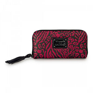 28345f10e7 Image is loading Loungefly-Hello-Kitty-Red-Pink-Black-Embossed-Zip-