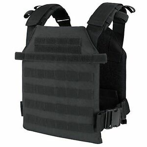 Condor-201042-Black-Tactical-MOLLE-Sentry-Lightweight-Plate-Carrier-Vest-Rig